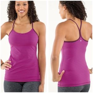 Lululemon Power Y Tank Luon Light Hyper Stripe
